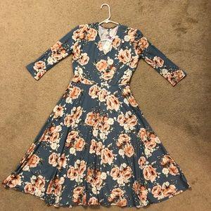 NWT Agnes & Dora Blue Floral Curie Dress